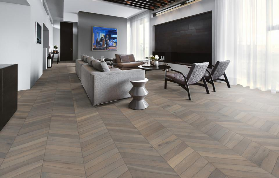 Stejar Chevron grey